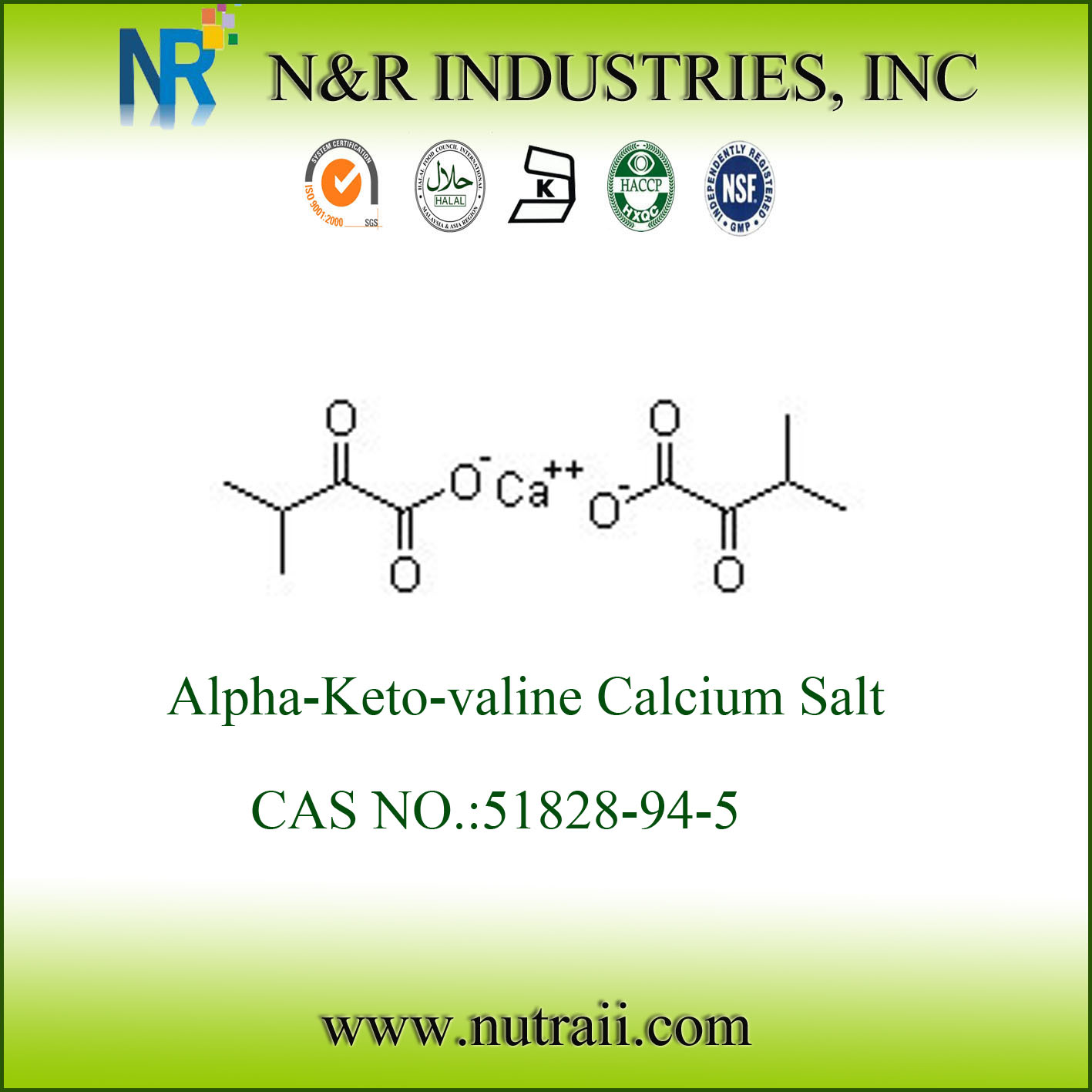 wholesale Alpha-Keto-valine Calcium Salt